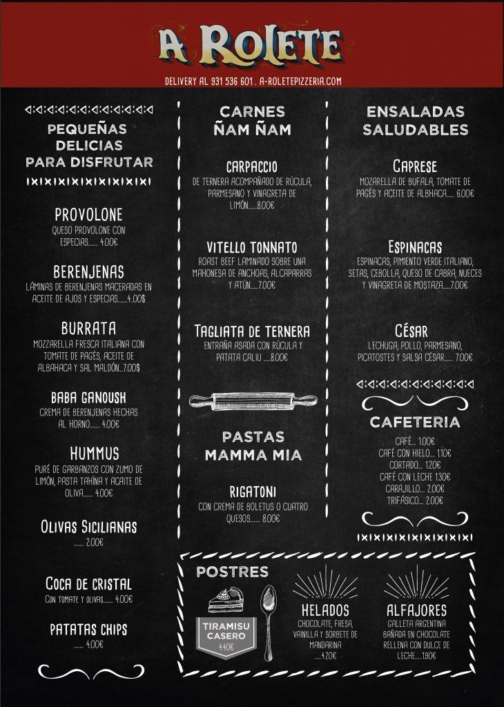 Nuestro menú de ensaladas y entrantes